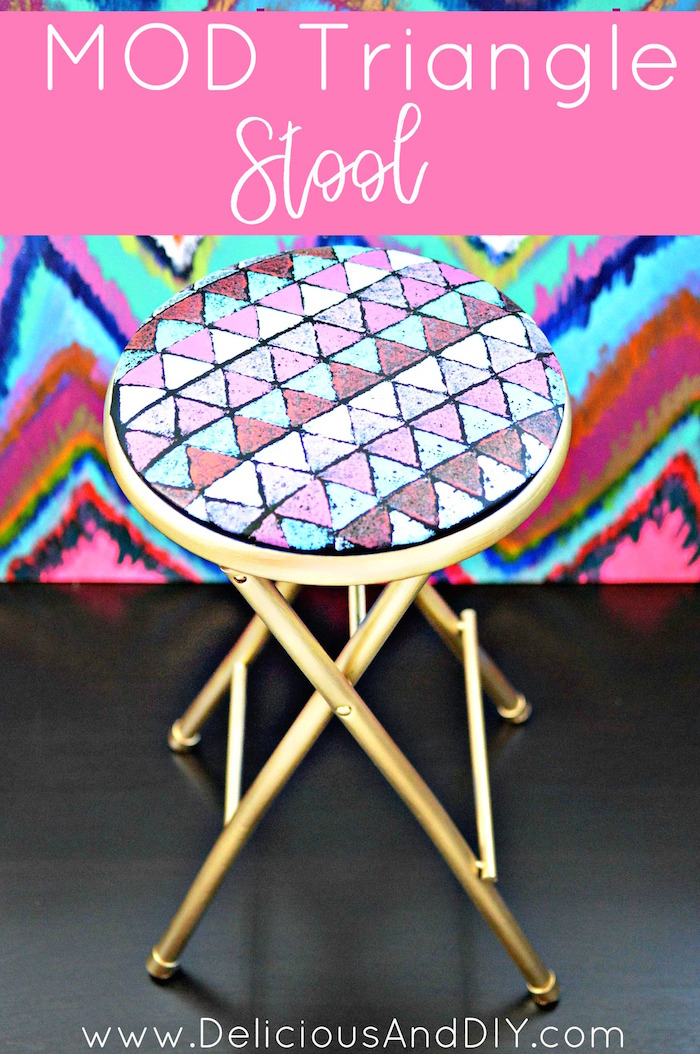 Miraculous Mod Triangle Folding Stool Makeover Delicious And Diy Unemploymentrelief Wooden Chair Designs For Living Room Unemploymentrelieforg