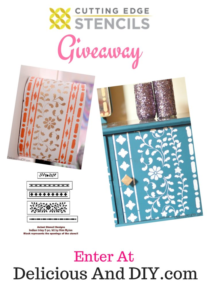 Stencilled Wall Shelf Giveaway - Delicious And DIY