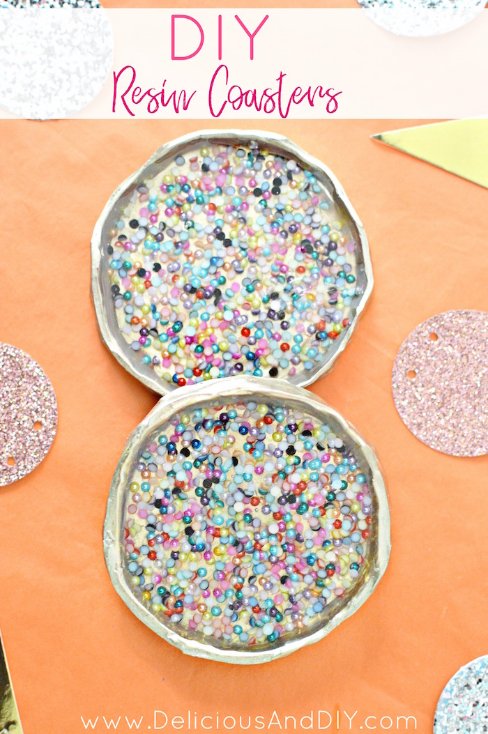 Festive Resin Coasters Rustic Finish Delicious And Diy