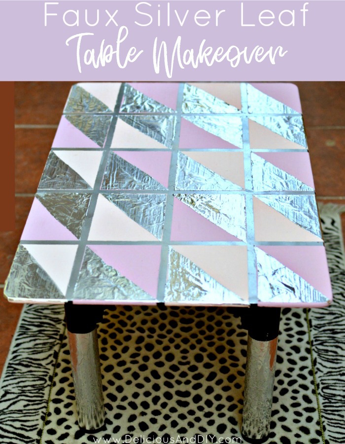 Diy Faux Silver Leaf Table Delicious