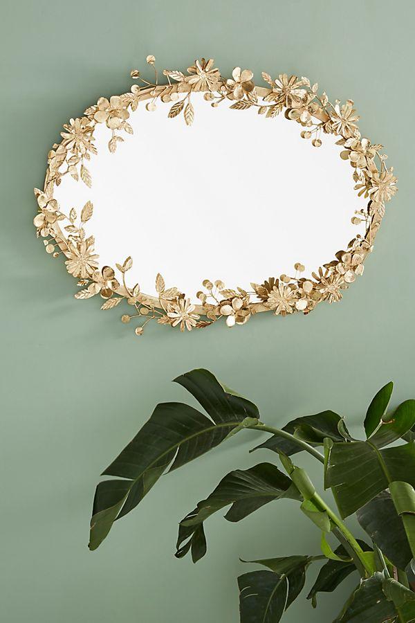 Diy Anthropologie Inspired Gold Flower Mirror Delicious