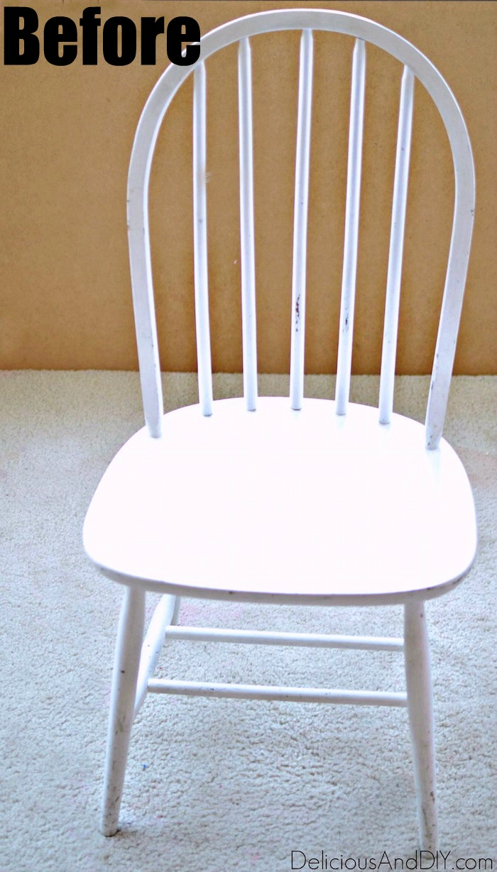 Peachy Wooden Chair Makeover Using Only Masking Tape Delicious Home Interior And Landscaping Oversignezvosmurscom