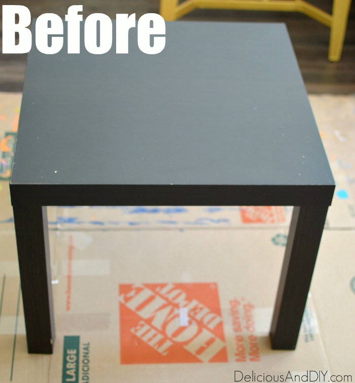 Peachy Ikea Lack Table Makeover Using A Stencil Delicious And Diy Evergreenethics Interior Chair Design Evergreenethicsorg