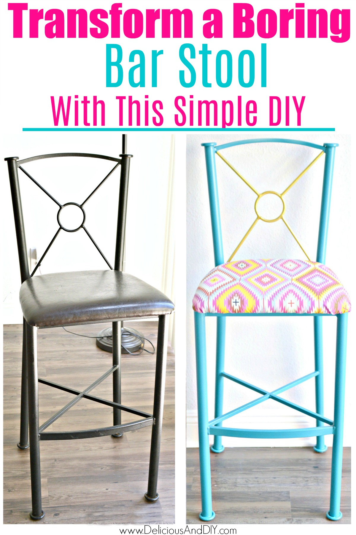 Remarkable Diy Bar Stool Makeover Under 30 Minutes Delicious And Diy Squirreltailoven Fun Painted Chair Ideas Images Squirreltailovenorg