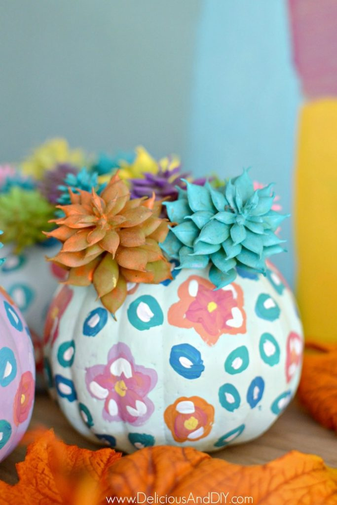 Diy Anthropologie Inspired Dollar Store Pumpkins Delicious